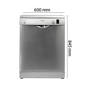 BOSCH Dishwasher, 12-place Freestanding Dishwasher 60cm, Inox - SMS50D08GC