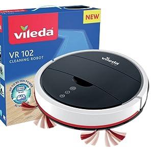 Vileda Relax Cleaning - Robot aspirador con doble sistema de limpieza y 3 programas: Amazon.es: Hogar