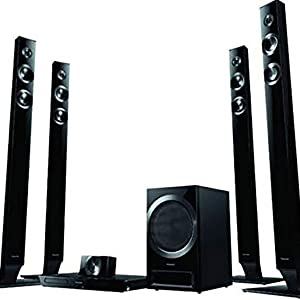 Panasonic Home Theater System 5.1 Ch 1000 Watts DVD Player with 4 Tall Boy Speakers - SC-XH385GS-K