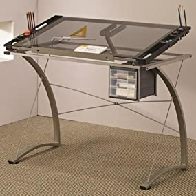 Coaster Furniture Drafting Table With Side Shelf