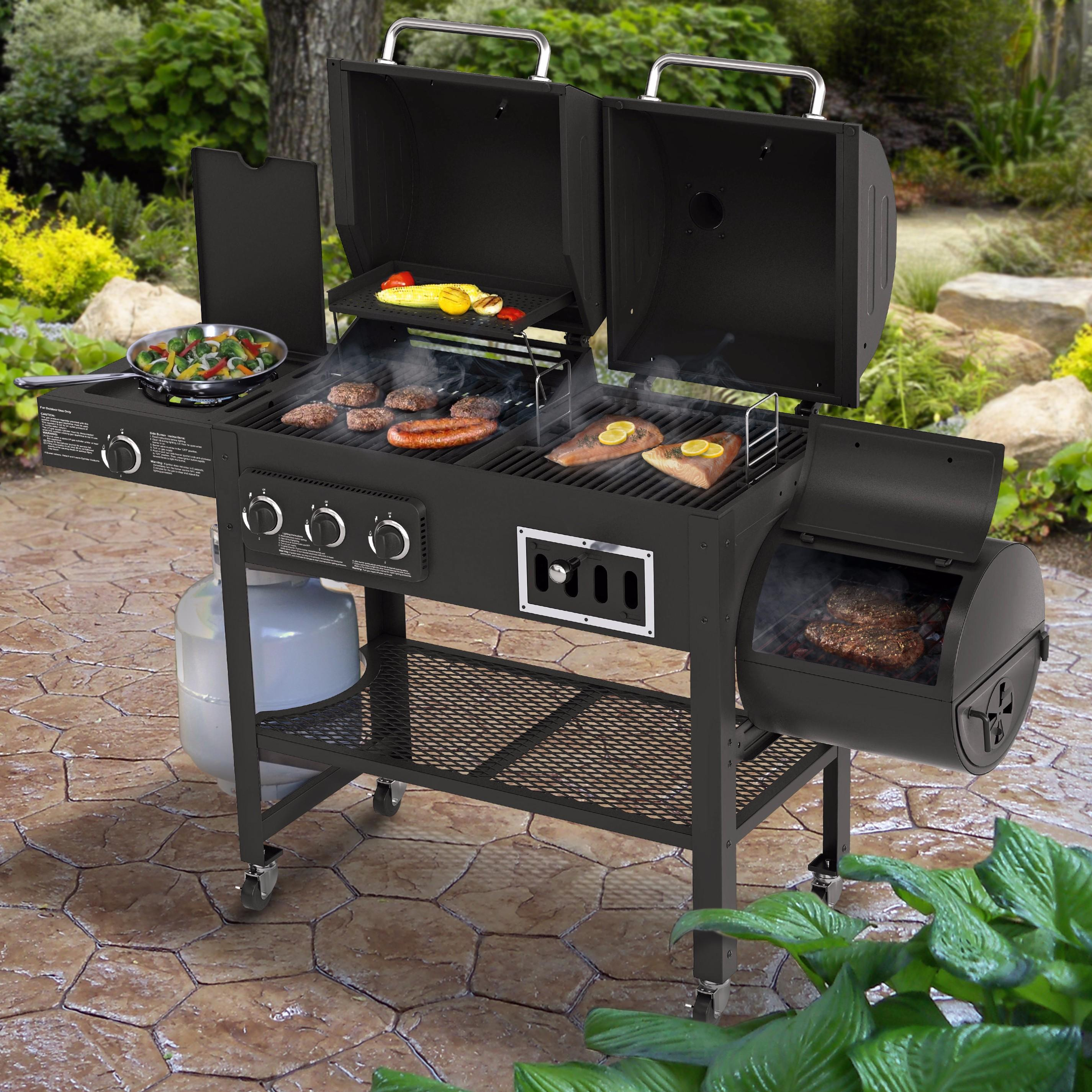 Smoke Hollow 3500 Gas/Charcoal/Smoker Grill With Side
