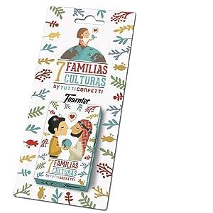 Fournier- Familias 7 Países Baraja de Cartas Infantil clásica, (21966)