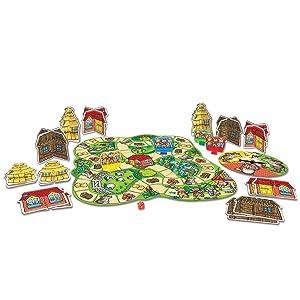 Orchard Toys - Juego de Mesa de los Tres Cerditos: Amazon.es ...