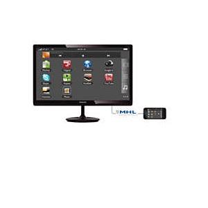 Philips 23.6型ワイド液晶ディスプレイ PLSパネル/フルHD/HDMI1.4/DVI-D/D-Sub15/5年間フル保証 246E7QDSB/11