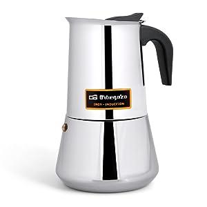 Cafetera italiana inox ORBEGOZO KFI460 | ORBEGOZO 4 tazas ...