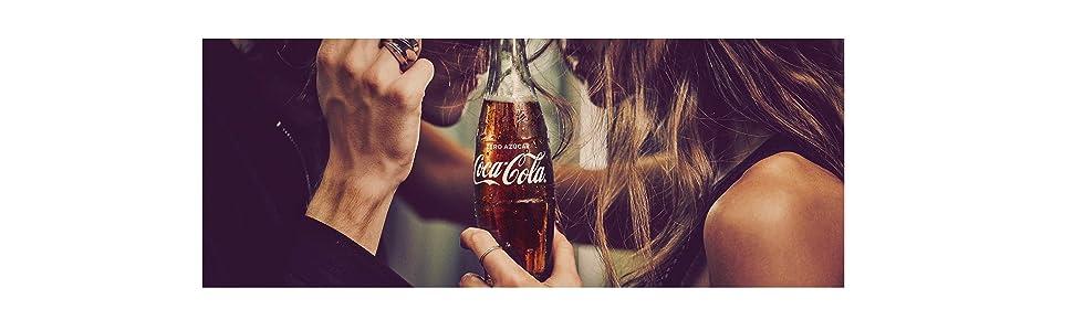 Coca Cola Zero refresco sin azúcar, 24 latas de 33 cl