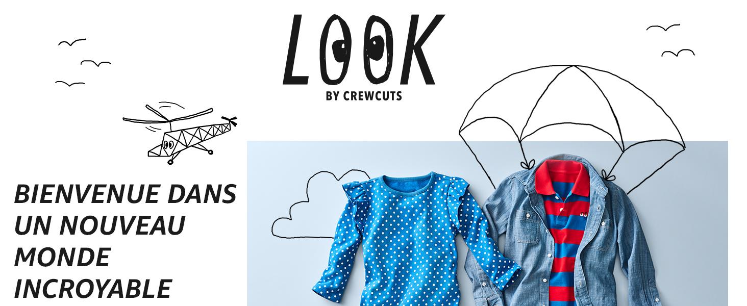 J LOOK by crewcuts Sweat-shirt /à capuche l/éger pour fille design oreilles de chat Marque Crew