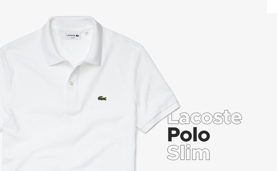 LACOSTE Mens 1HP3 Mens Polo, Silver (Silver Chine), Medium