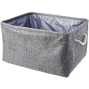 AmazonBasics Storage Basket with Handles and Drawstring Closure