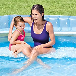 Intex 57190np swim centre family lounge pool 224 x 216 x - Intex swim center family lounge pool blue ...
