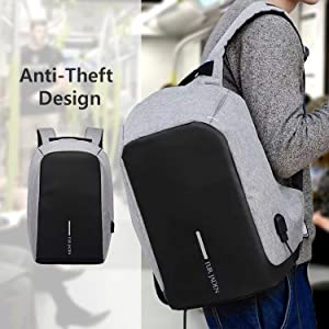 382055184d This unisex laptop backpack from Fur Jaden comes in an anti-theft design  which lets you carry your laptop anywhere with confidence.
