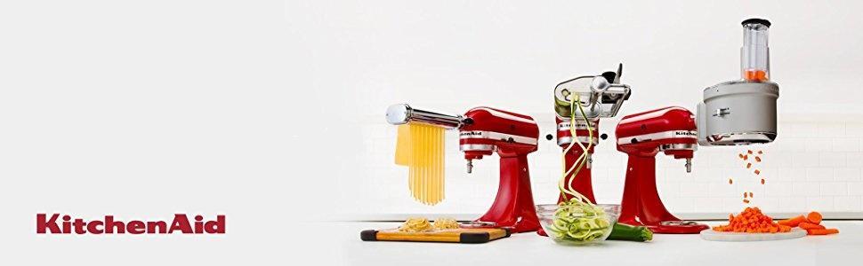 KitchenAid 5KSM1APC Affetatore a spirale, Accessorio per Robot da ...
