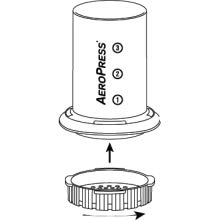 Twist filter cap onto chamber