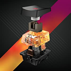 El teclado mecánico de gaming ROCCAT Vulcan representa una poderosa combinación de innovación tecnológica, robustez e iluminación.