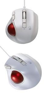 Digio2 Q 極小 トラックボール 有線マウス 静音 5ボタン グロスブラック 48371