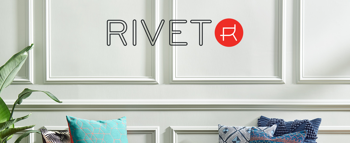 Rivet, midcentury modern, studio, urban, apartment, loft, pillow, pillows, throw pillow, décor