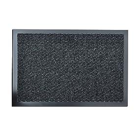 Barrier Mat Large Grey Black Door Mat Rubber Backed