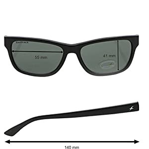 4d62550d9080 Fastrack UV protected Square Men s Sunglasses (P357BK1