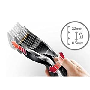 Philips HAIRCLIPPER Series 7000 HC7450/80 - Afeitadora (0,5 mm, 2,3 cm, 4,1 cm, Titanio, 120 min, 1 h): Amazon.es: Salud y cuidado personal