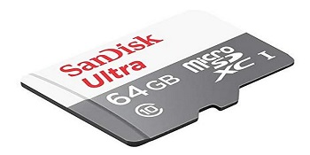 SanDisk 64 GB Class 10 MicroSDHC Ultra Android Memory Card