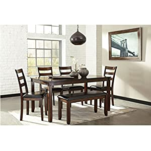 Charmant Ashley Furniture Signature Design   Coviar Dining Room Table And Chairs  With Bench