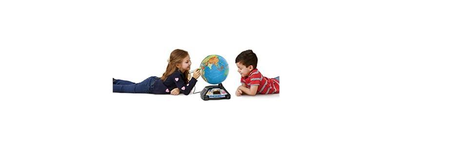 f/ür Grundsch/üler Lernspielzeug VTech 80-605464 Interaktiver Videoglobus Lernglobus Mehrfarbig EasyMail-Verpackung f/ür Kinder ab 7 Jahren