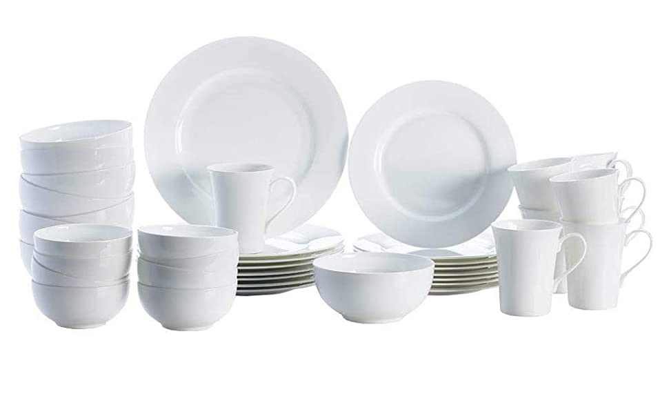 Amazon Com Mikasa Delray 40 Piece Dinnerware Set Service For 8 Dinnerware Sets
