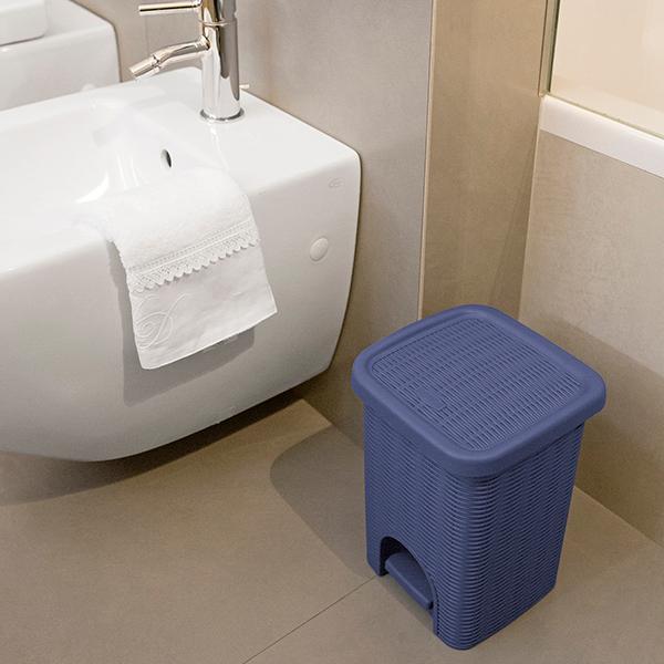 Stefanplast elegance pattumiera bagno lt 6 bianco casa e cucina - Pattumiera da bagno ...