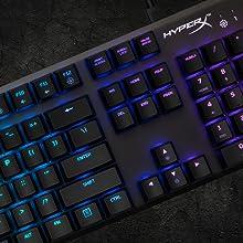 キングストン RGB ゲーミングキーボードHyperX Alloy FPS RGB HX-KB1SS2-US Kailh Silverゲーマー向け USB充電ポート LEDバックライト 2年保証