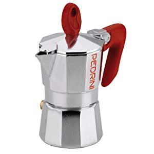 Pedrini P9083 Espresso Coffee Maker 3 cup,150 ml - Silver