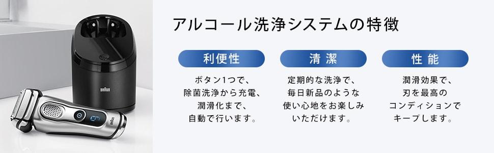 アルコール洗浄システムの特徴