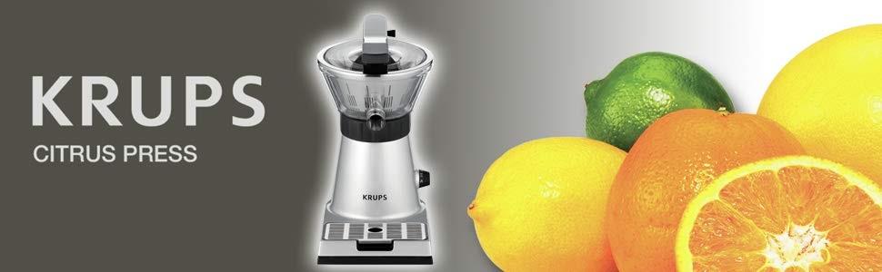 Krups Citrus Press ZX7000 - Exprimidor con tapa y clip para ...