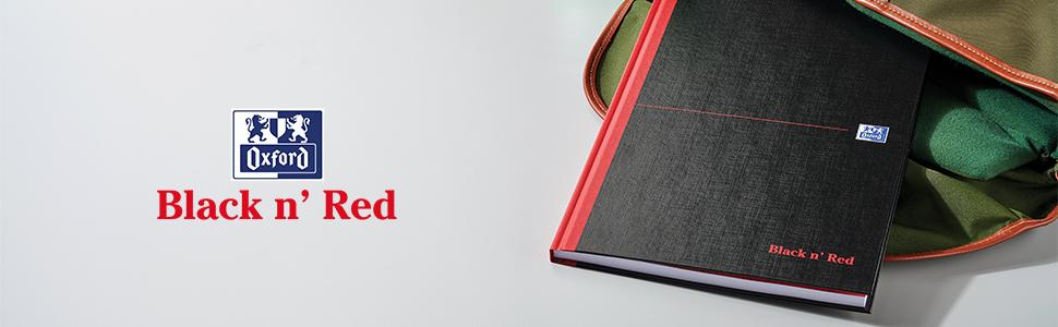 Ruled 192 Page Oxford Black n Red A4 Hardback Casebound Notebook 1 Notebook /& Basics Stapler with 1000 Staples Black