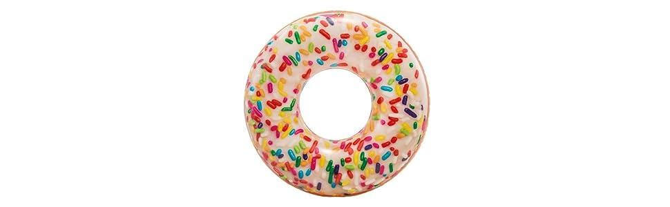 Intex 56263NP - Rueda hinchable Donut de colores 114 cm diámetro ...