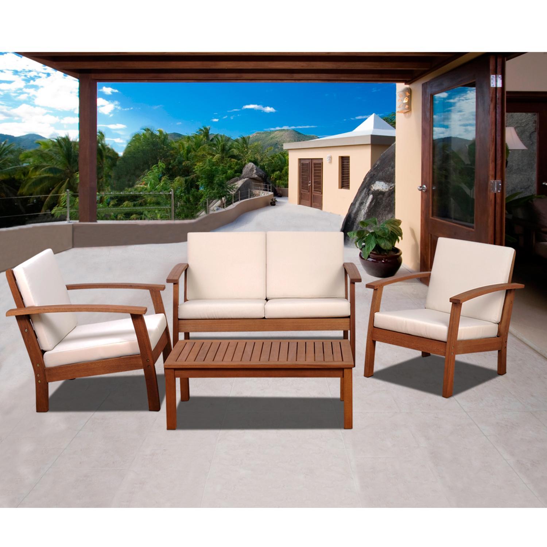 amazonia murano piece conversation set amazonca patio lawn  - amazonia murano piece deep seating set with khaki cushions