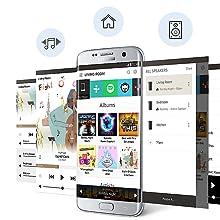 Samsung Sound+ HW-MS6500 - Barra de Sonido inalámbrica Curva (Bluetooth, Wi-Fi), Plateado: Amazon.es: Electrónica