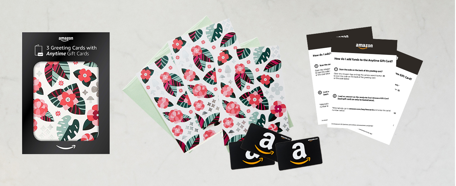 Amazon amazon premium greeting cards with anytime gift cards so you can use one now and save the rest for another occasion you can also remove the gift card and give the premium greeting card individually m4hsunfo