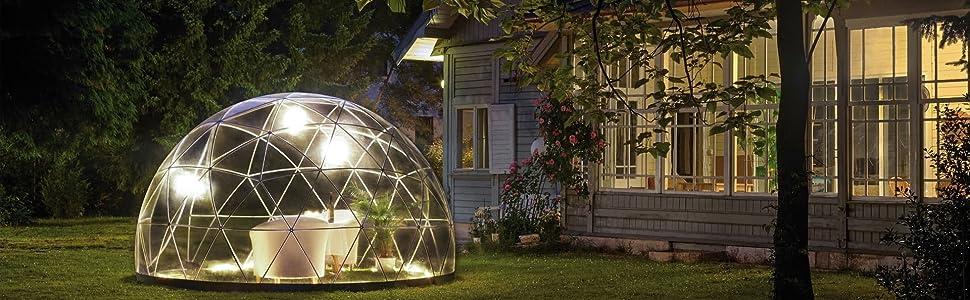 Garden Igloo – Jardín de Invierno translúcido 360 x 360 x 220 cm