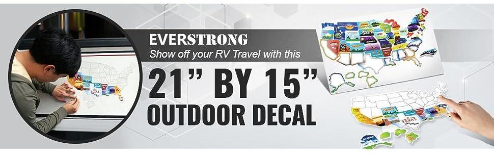 EverStrong Camper RV Decal Sticker For MotorHome Trailer - Camper ...