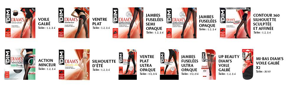 Dim Diam s Jambes Fuselées Opaque - Collants - Lot de 2 - 45 deniers ... 74692eef56c