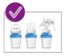 Philips Avent - Set de recipientes para leche materna (10 ...