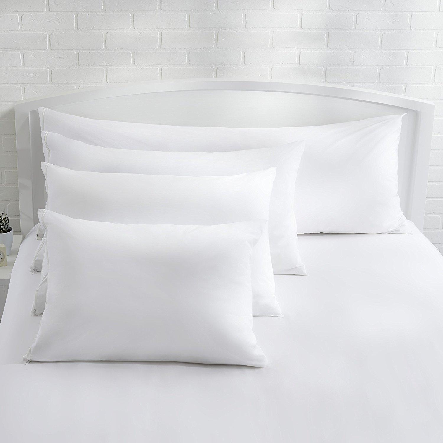 AmazonBasics Hypoallergenic Pillow Protector, White, Standard: Amazon.ca: Home & Kitchen
