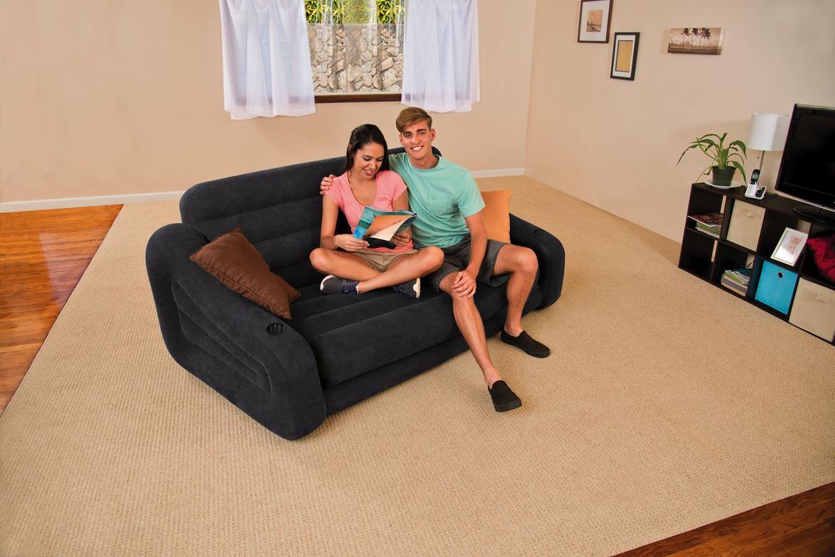 Intex 68566np poltrona letto 193x231x71 cm grigio scuro casa e cucina - Letto gonfiabile amazon ...