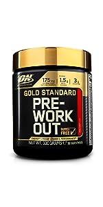Gold Standard, Pre-Workout, Optimum Nutrition