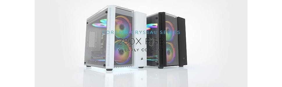 Corsair コルセア Crystal 280X RGB -Black- キューブ型PCケース RGBファン搭載モデル CS7303 CC-9011135-WW