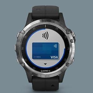 Garmin Fenix 5 Plus - Reloj GPS multideporte, Plata con correa ...