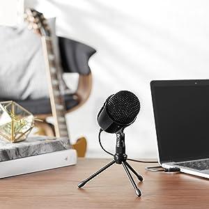 Amazon Com Amazonbasics Desktop Mini Condenser Microphone