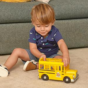 cocomelon vehicle play set for children