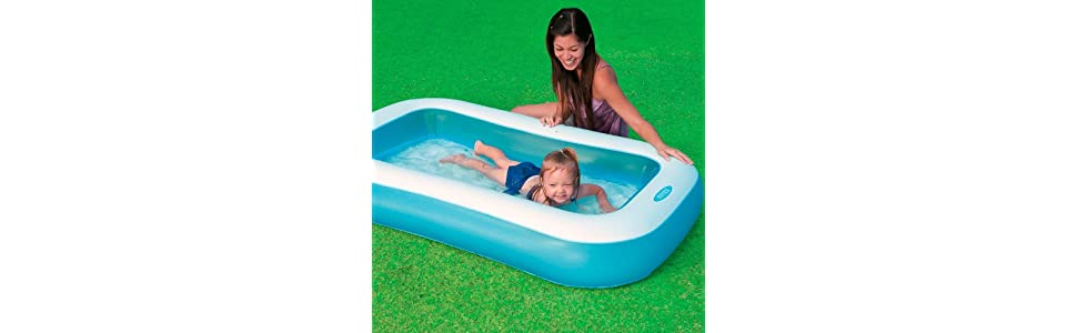 Intex 57403NP - Piscina hinchable rectangular 166 x 100 x 28 cm ...