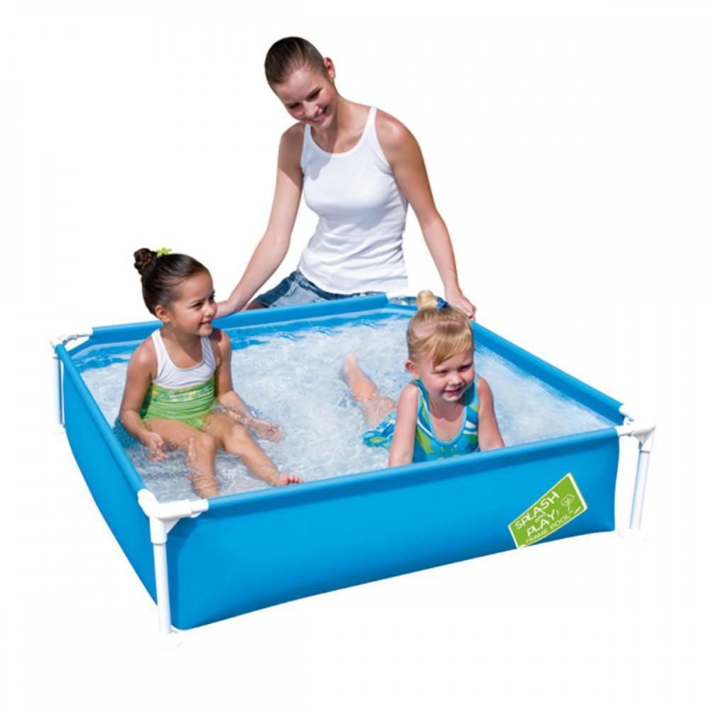 Bestway piscina infantil cuadrada 122 x 122 x 30 5 cm for Materassini piscina